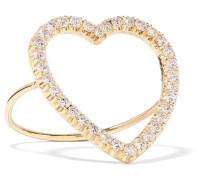 Open Heart Ring Aus 18 Karat  Mit Diamanten