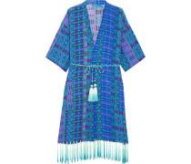 Bedruckter Kimono Aus Crêpe De Chine Aus Seide - Kobaltblau