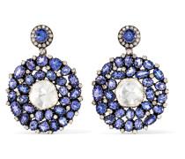 Ohrringe Aus 18 Karat Gold Mit Tansanit Und Diamanten -