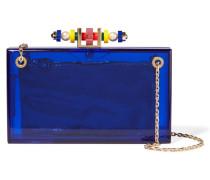 Dora 1920 Verzierte Clutch Aus Perspex® - Blau