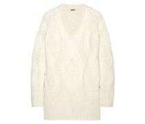 Oversized-pullover In Zopfstrick Aus Einer Woll-kaschmirmischung -