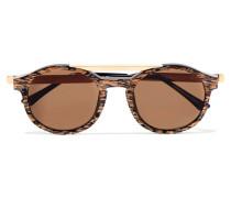 Fancy Sonnenbrille Mit Rundem Rahmen Aus Azetat -