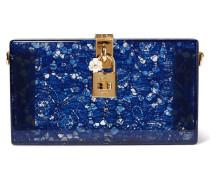 Box-clutch Aus Spitze Und Perspex® - Blau