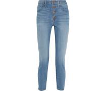 Hochsitzende Skinny Jeans - Mittelblauer Denim
