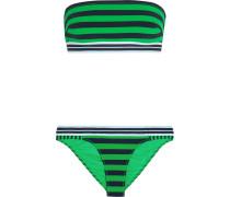 Calypso Gestreifter Bandeau-bikini - Grasgrün