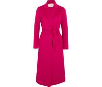 Mantel Aus Einer Gefilzten Wollmischung Mit Gürtel -