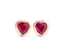 Heart Ohrringe aus 18 Karat  mit Rubinen
