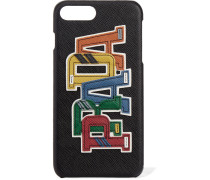Iphone-7-plus-hülle Aus Strukturiertem Leder Mit Applikation -