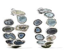 Creolen Aus 18 Karat  Mit Geoden Und Diamanten