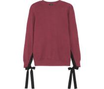 Sweatshirt Aus Baumwoll-jersey Mit Ripsbandschleifen -