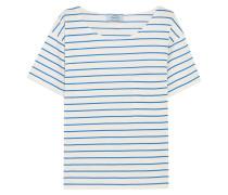 Gestreiftes T-shirt Aus Baumwoll-jersey -