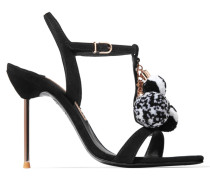 Layla Verzierte Sandalen Aus Veloursleder -