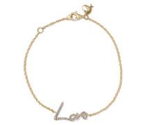 + Tracey Emin Love Armband Aus 18 Karat Gold Mit Diamanten