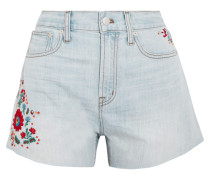The Perfect Bestickte Jeansshorts -