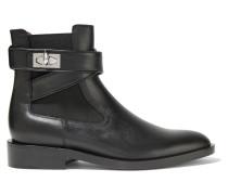 Shark Lock Ankle Boots Aus Leder -
