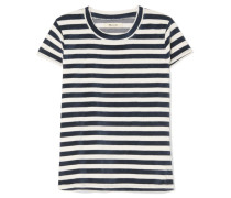 Basil Gestreiftes T-shirt aus Velours aus einer Baumwollmischung -