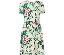 Bedrucktes Kleid Aus Seiden-georgette - Grün