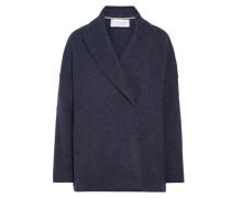 Mantel Aus Meliertem Woll-filz -