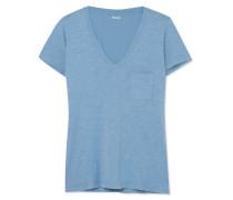 T-shirt aus Baumwoll-jersey mit Flammgarneffekt -