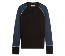 Rogers Sweatshirt Aus Stretch-jersey Mit Metallic-besatz - Schwarz