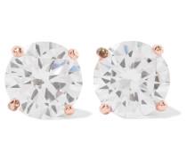 Rhodinierte Ohrringe Mit Cubic Zirkonia-steinen -