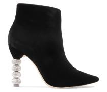 Coco Kristallverzierte Ankle Boots Aus Samt -