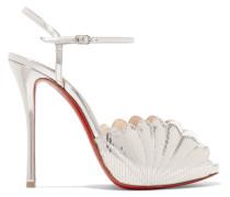 Botticella 120 Sandalen aus Metallic-leder mit Eidechseneffekt -