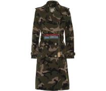Verzierter Trenchcoat aus Baumwoll-canvas mit Camouflage-print -