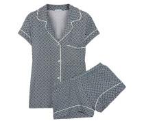Sleep Chic Bedruckter Pyjama Aus Jersey - Smaragdgrün