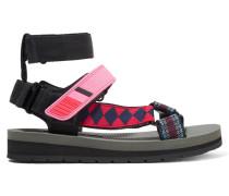 Sandalen Aus Canvas, Leder Und Gummi -