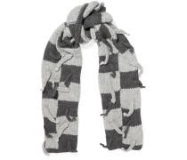Karierter Schal Aus Einer Wollmischung Mit Verzierungen -