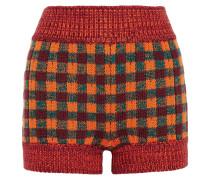 Karierte Shorts Aus Einer Wollmischung - Orange