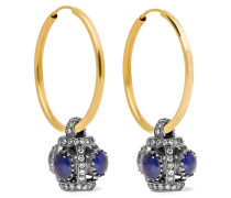 Rajasthan Ohrringe Aus 18 Karat  Und Sterlingsilber Mit Saphiren Und Diamanten