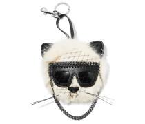 Falabella Schlüsselanhänger Aus Faux Fur Mit Applikationen -