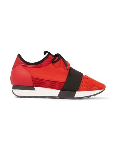 balenciaga damen race runner sneakers aus neopren mesh. Black Bedroom Furniture Sets. Home Design Ideas