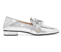 Quincey Loafers Aus Metallic-leder Mit Einklappbarer Fersenpartie -