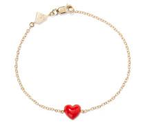 Heart Armband aus 14 Karat  mit Emaille