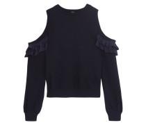 Sweatshirt Aus Baumwoll-jersey Mit Cut-outs Und Rüschen Aus Seide -
