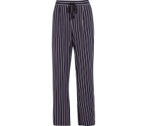 Gestreifte Pyjama-hose Aus Jersey Aus Stretch-modal -