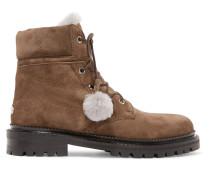 Elba Ankle Boots Aus Veloursleder Mit Shearling-futter -