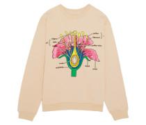 Botanical Besticktes Sweatshirt Aus Baumwoll-jersey - Altrosa