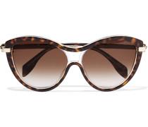 Sonnenbrille aus Azetat und Metall mit rundem Rahmen