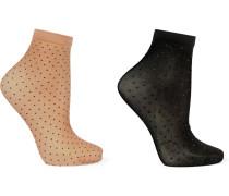 Nola Set aus zwei Paar Socken mit Polka-Dots 20 den