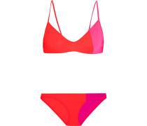 Elsa And Enel Triangel-bikini In Colour-block-optik -