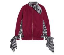 Sweatshirt Aus Jersey Und Popeline Mit Gingham-karo -