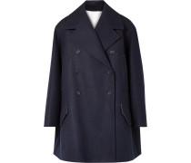 Doppelreihiger Mantel aus Wollfilz -