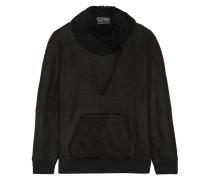 Sweatshirt Aus Shearling - Schwarz