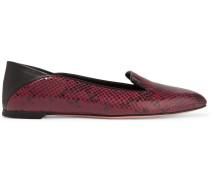 Loafers aus Leder mit Schlangeneffekt