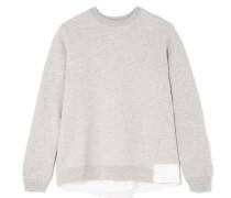 Sweatshirt Aus Jersey Aus Einer Baumwollmischung Mit Mesh- Und Satineinsätzen -