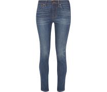 Hoch Sitzende Skinny Jeans - Mittelblauer Denim